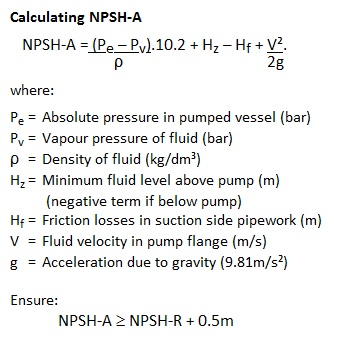 pump head calculation formula pdf